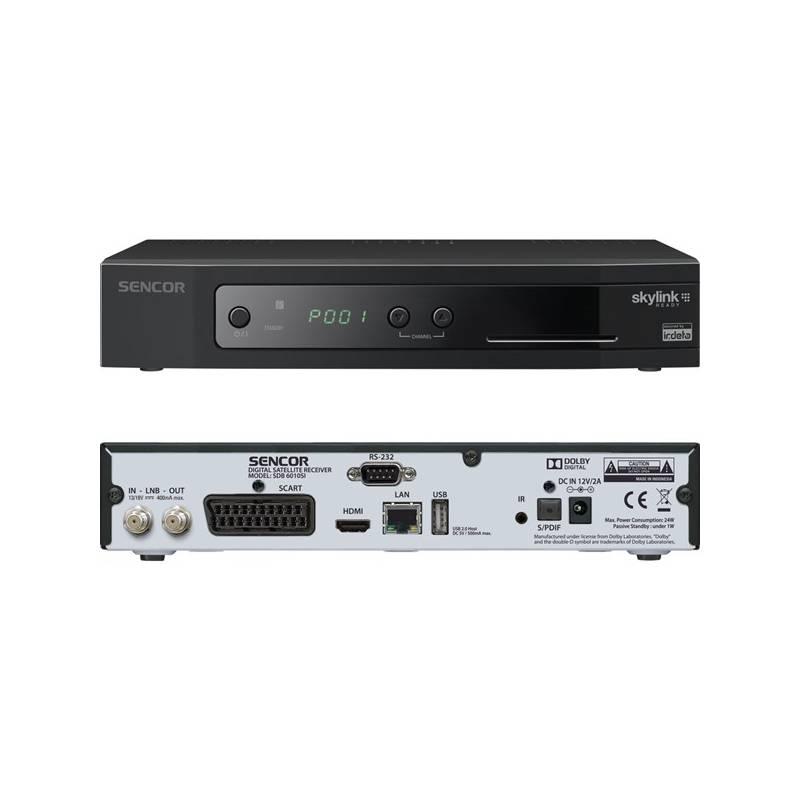 Satelitný prijímač Sencor SDB 6010SI čierny + Doprava zadarmo