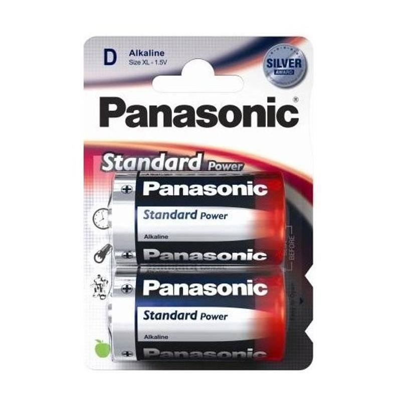 Batéria alkalická Panasonic Standard Power D, LR20, blistr 2ks (190781)