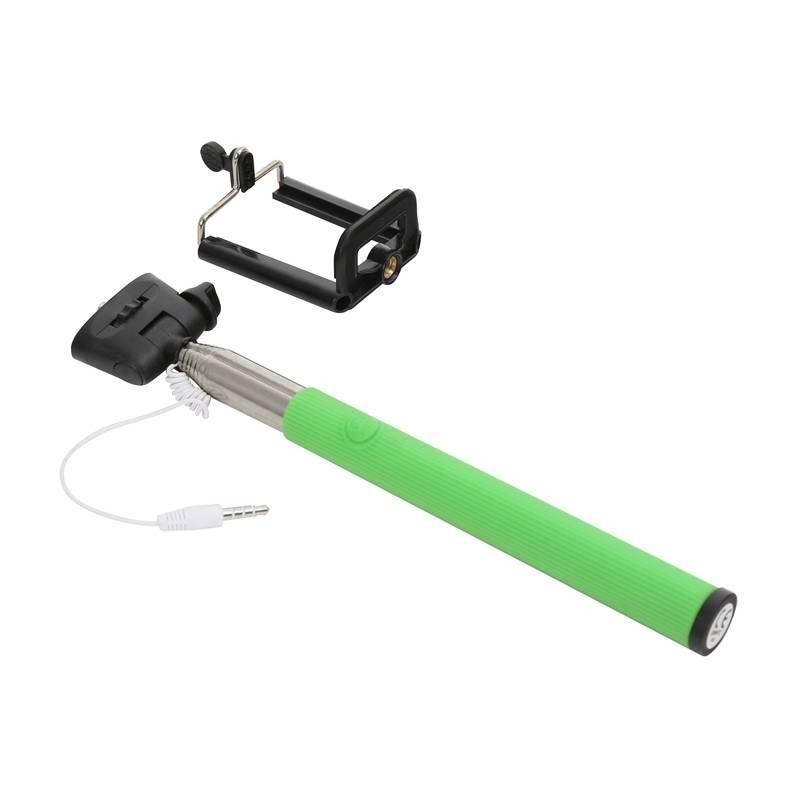 Selfie tyč PLATINET OMEGA MONOPOD, jack 3.5 mm, zelená (416844)