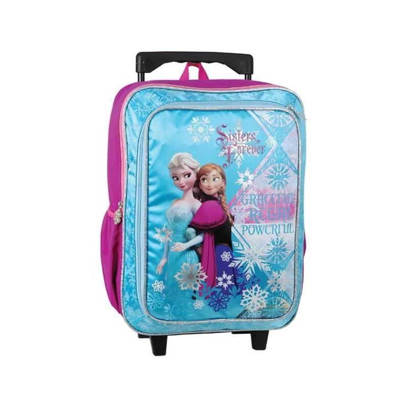 1b33d94ad46 Batoh dětský Sun Ce na kolečkách Disney Frozen ledové království  modrý fialový
