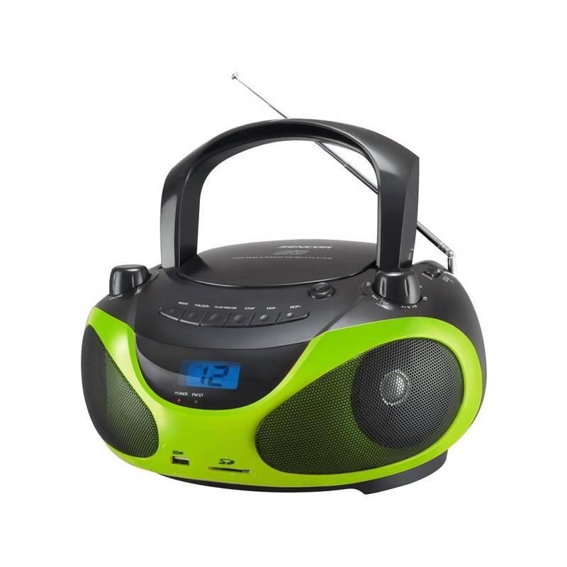 Rádioprijímač s CD Sencor SPT 228 BG čierny/zelený