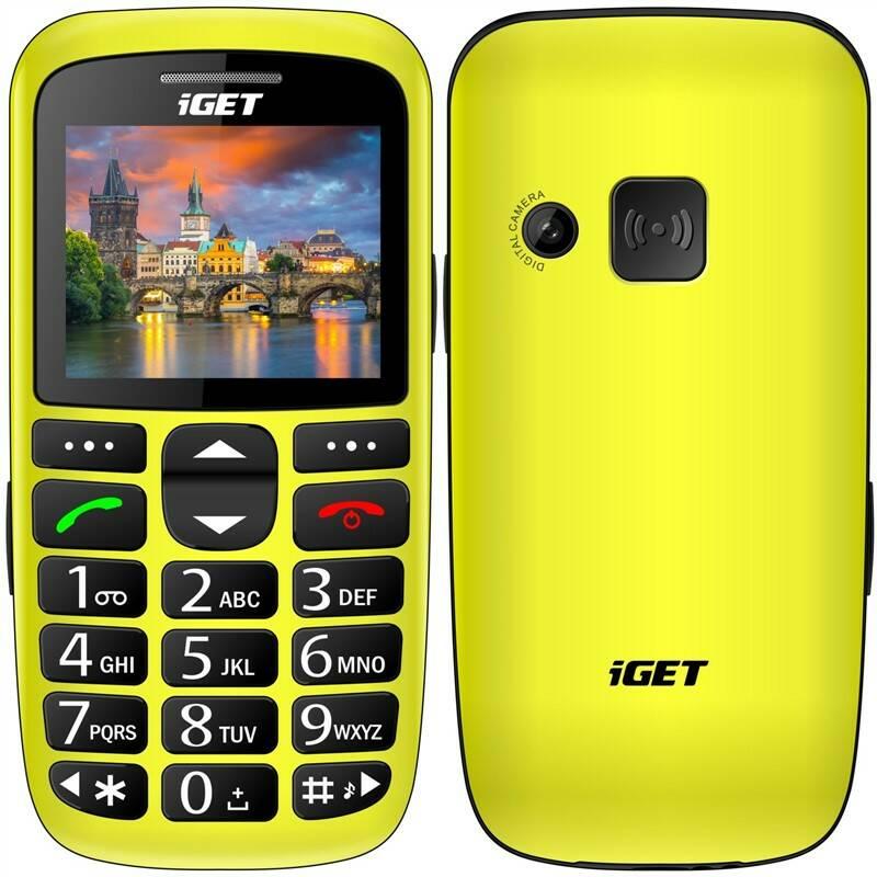 Mobilný telefón iGET SIMPLE D7 Single SIM (84001576) žltý