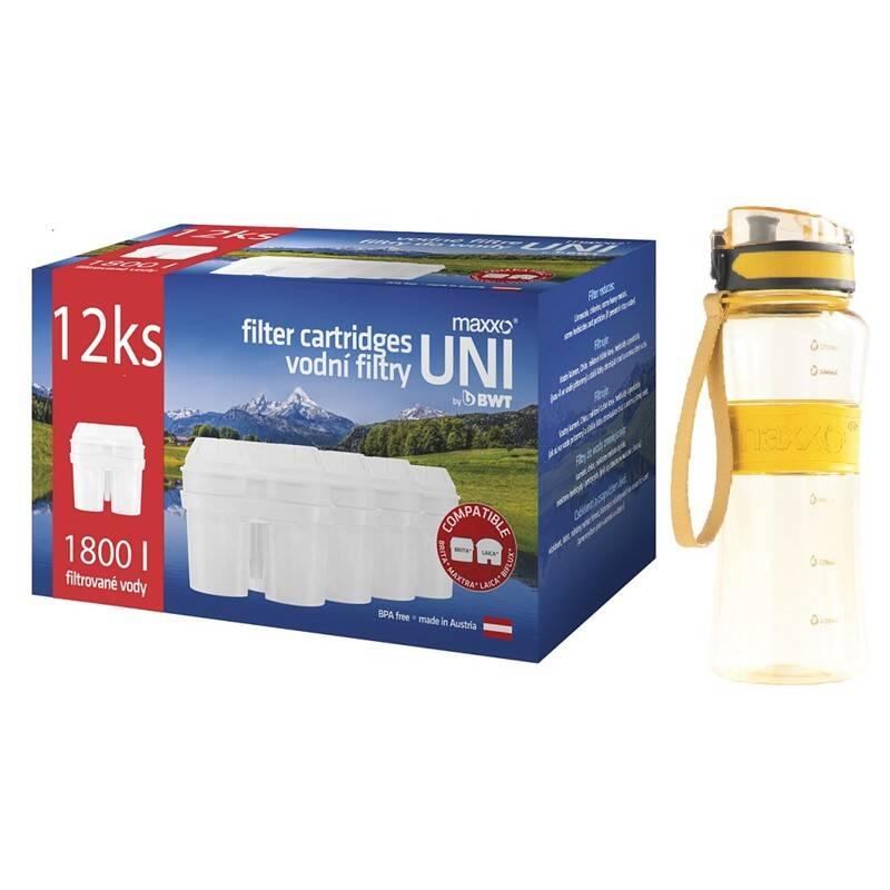 Filter na vodu Maxxo UNI 12 ks + sportovní láhev