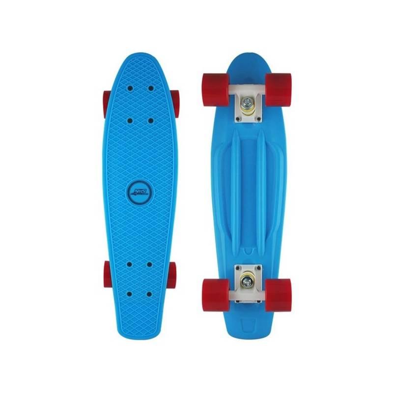 Penny board Nils Extreme Extreme modrý + Reflexní sada 2 SportTeam (pásek, přívěsek, samolepky) - zelené v hodnote 2.80 €