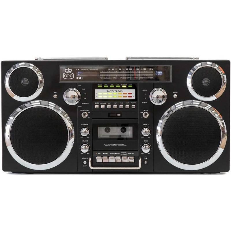 Radiomagnetofon s CD GPO Brooklyn černý