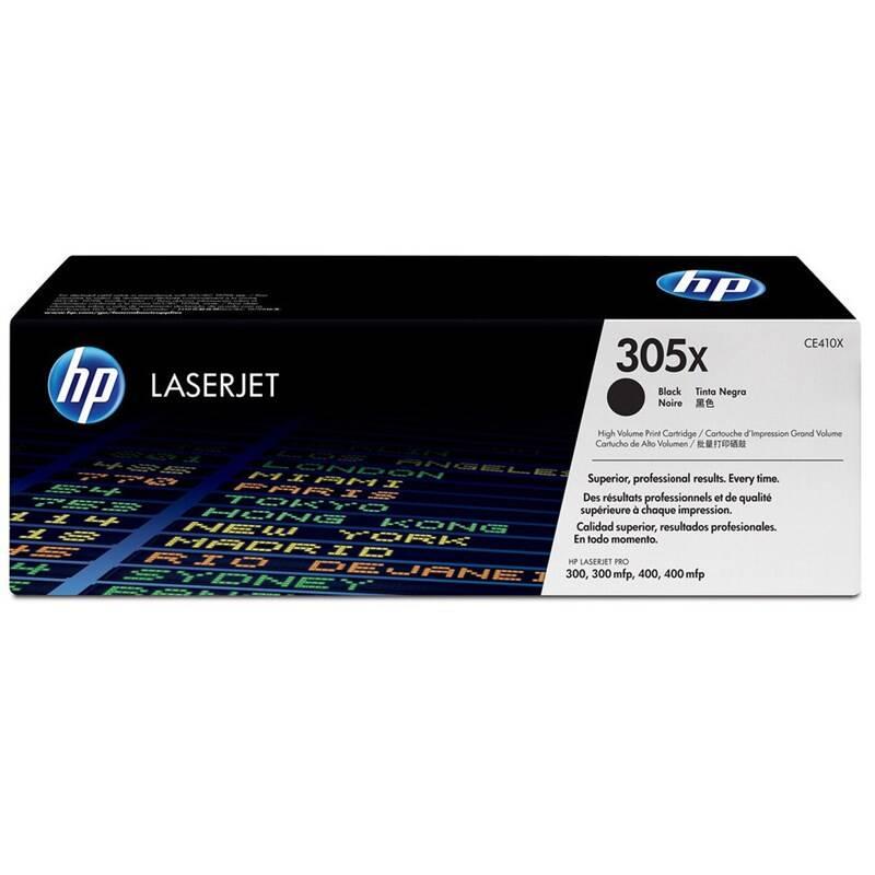 Toner HP 305X, 4000 stran (CE410X) čierny + Doprava zadarmo