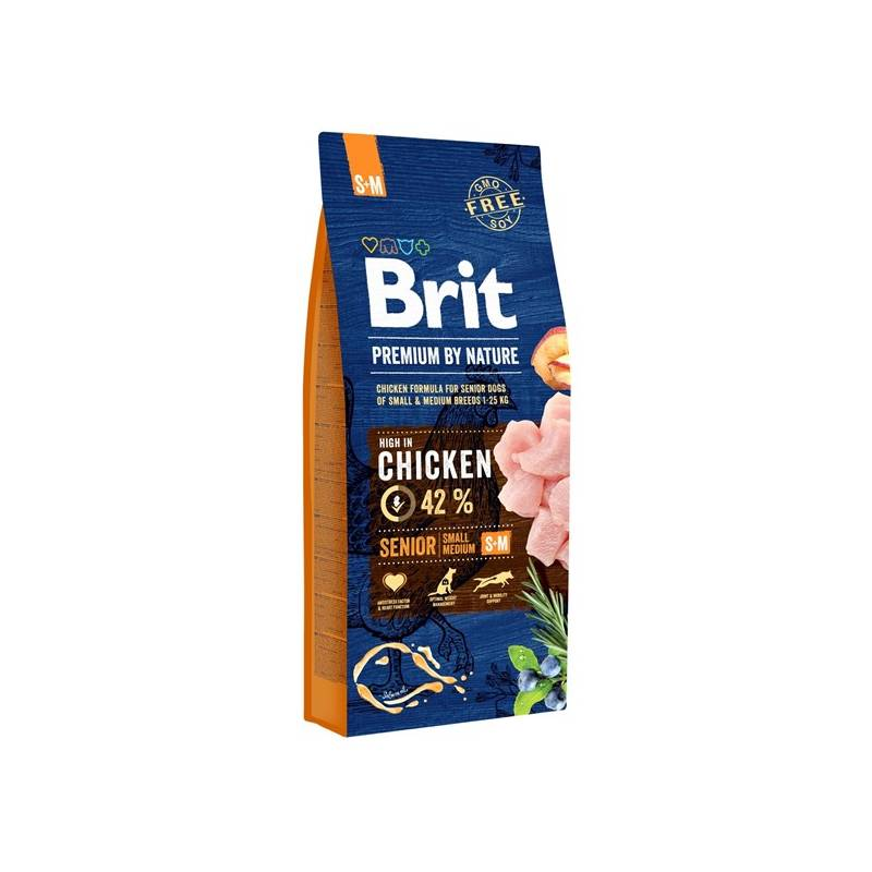 Granule Brit Premium Dog by Nature Senior S+M 15 kg