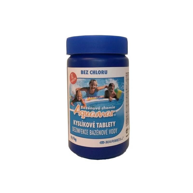 Bazénová chémia Marimex AquaMar kyslíkové tablety 0,9 kg biela