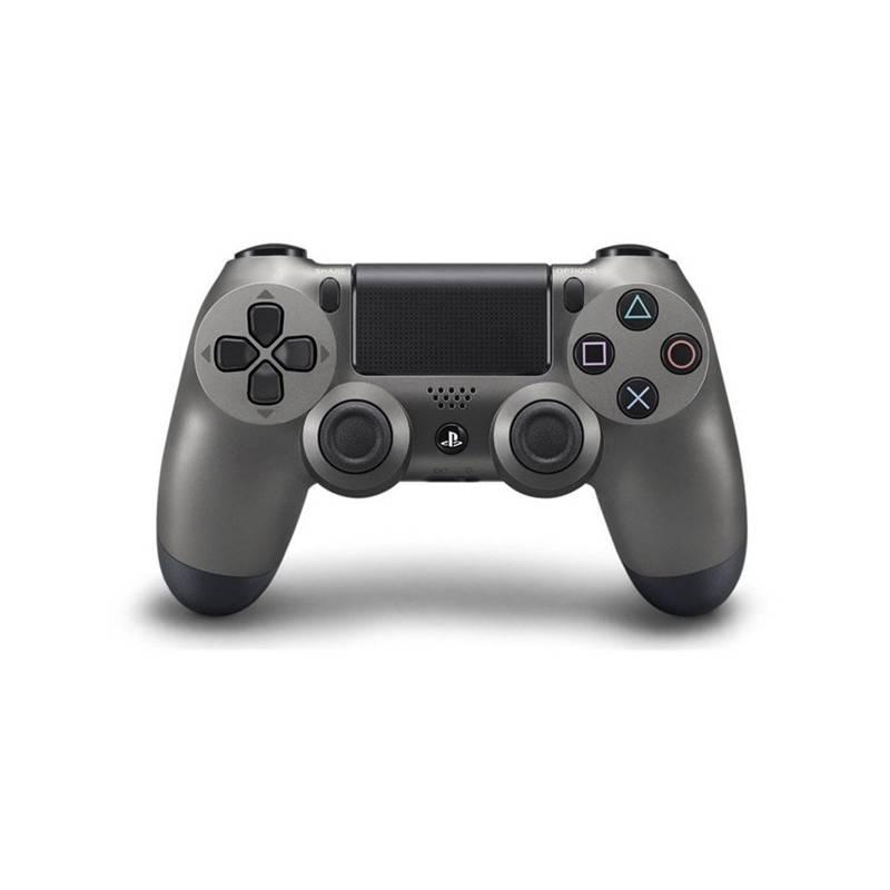Gamepad Sony Dual Shock 4 pro PS4 v2 - metalicky černá (PS719868262)