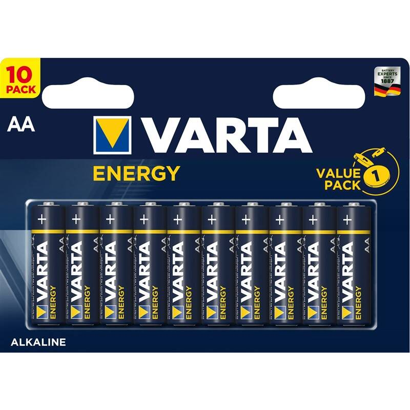 Batéria alkalická Varta Energy AA, LR06, blistr 10ks (4106229491)