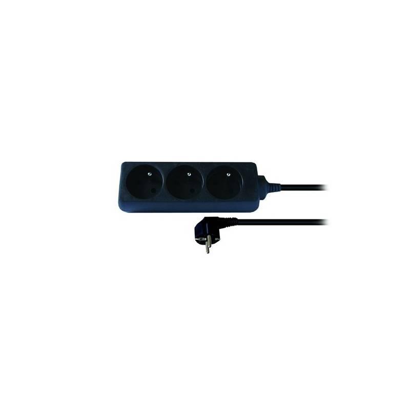 Kabel prodlužovací Solight 3 zásuvky 3m (164769) černý