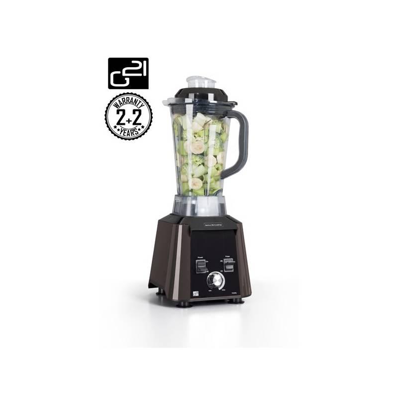 Stolný mixér G21 Blender Perfect Smoothie Vitality Dark Brown hnedý + Kniha Secret of Raw Tajemství syrové stravy v hodnote 16.90 € + Doprava zadarmo