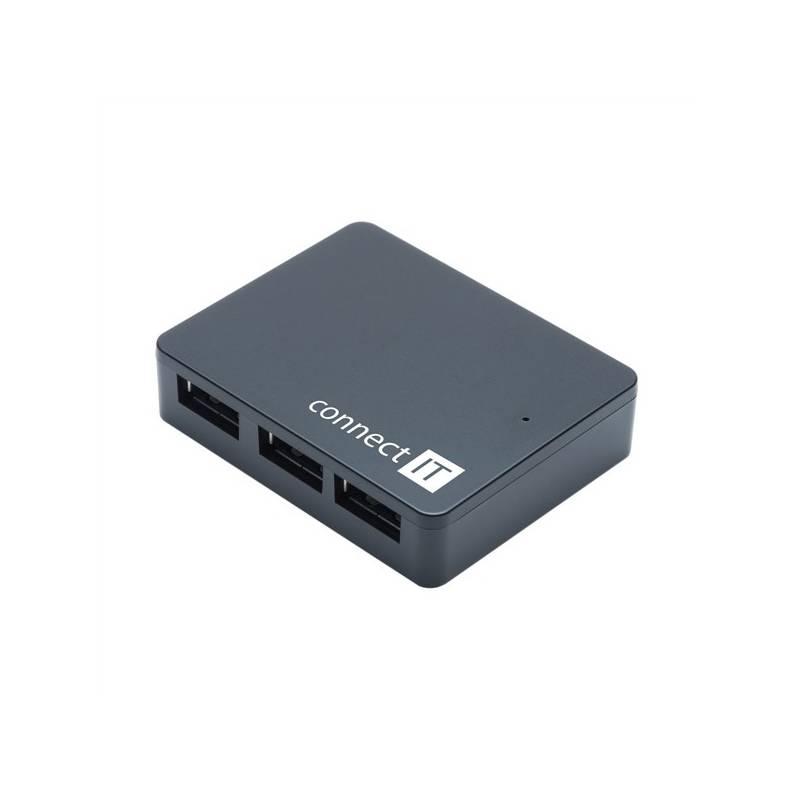 USB Hub Connect IT USB 3.0 / 4x USB 3.0 (CI-170) čierny