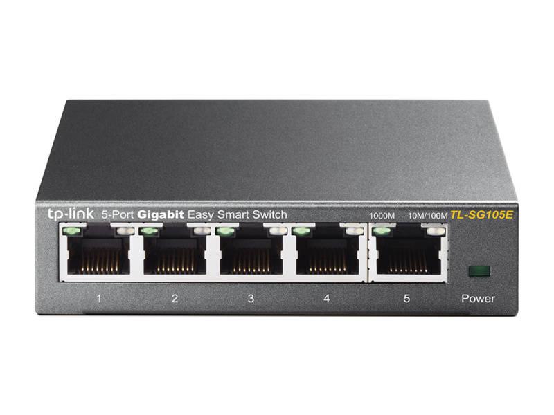 Switch TP-Link TL-SG105E (TL-SG105E) sivý