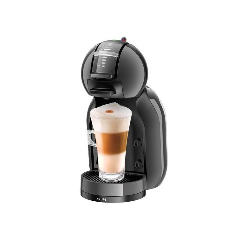 Espresso Krups NESCAFÉ Dolce Gusto Mini Me KP1208CS čierne/sivé Kapsle NESCAFÉ LATTÉ MACCHIATTO (zdarma) 16 ks k Dolce Gusto