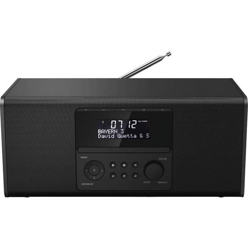 Rádioprijímač s DAB Hama DR1550CBT, CD/BT čierny + Doprava zadarmo