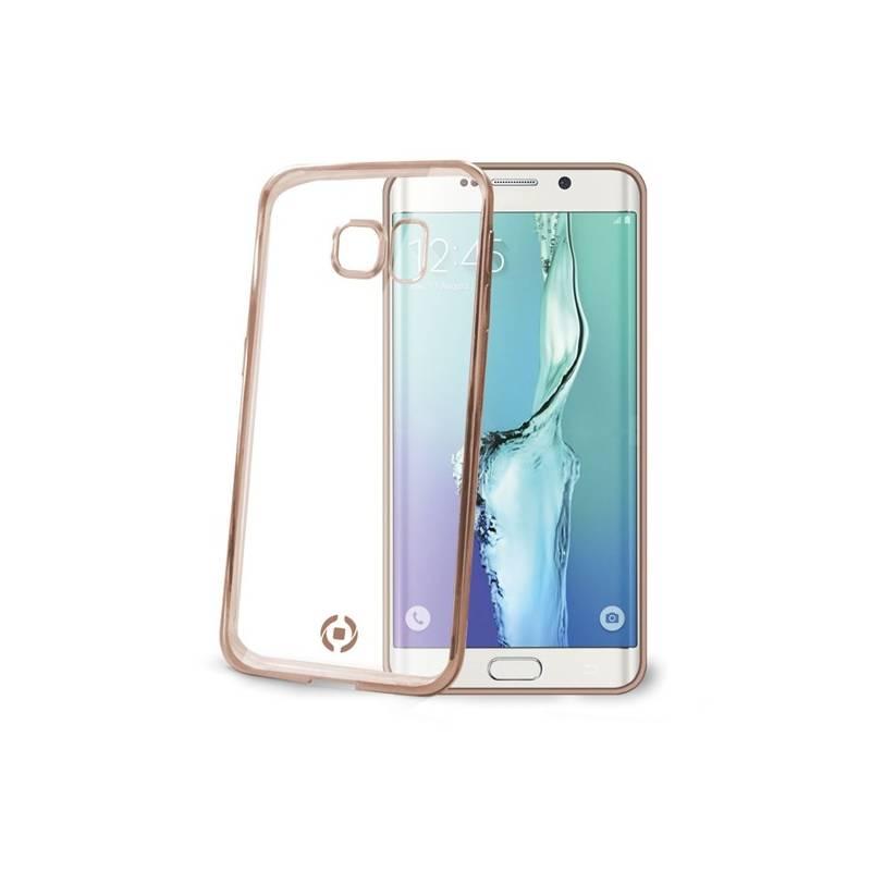 Kryt na mobil Celly Laser pro Samsung Galaxy S6 Edge (BCLS6EGD) zlatý