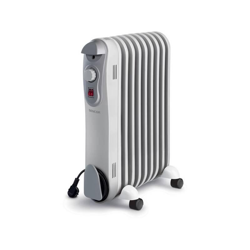Olejový radiátor Sencor SOH 3009BE sivý/biely
