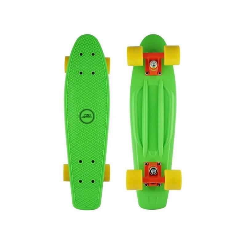 Penny board Nils Extreme Extreme zelený + Reflexní sada 2 SportTeam (pásek, přívěsek, samolepky) - zelené v hodnote 2.80 €