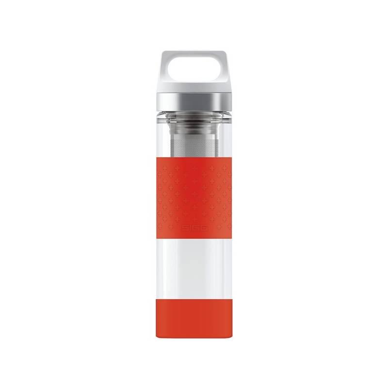 Termoska Sigg Hot&Cold Glass WMB 0,4l skleněná červená + Doprava zadarmo
