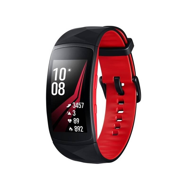Fitness náramok Samsung Gear Fit2 Pro vel. L (SM-R365NZRAXEZ) čierny/červený + Doprava zadarmo
