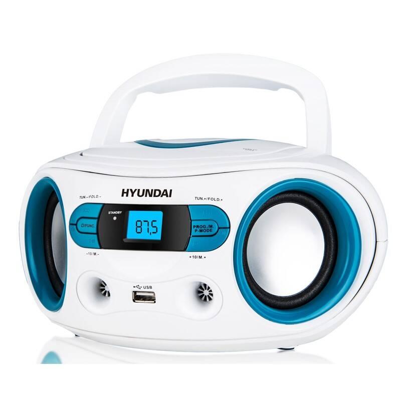 Rádioprijímač s CD Hyundai TRC 533 AU3WBL biely/modrý