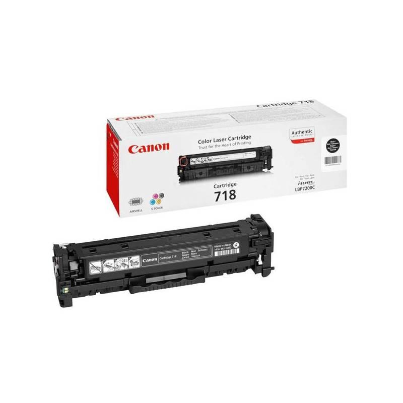 Toner Canon CRG-718Bk, 3400 stran (2662B002) čierny + Extra zľava 10 % | kód 10HOR2020