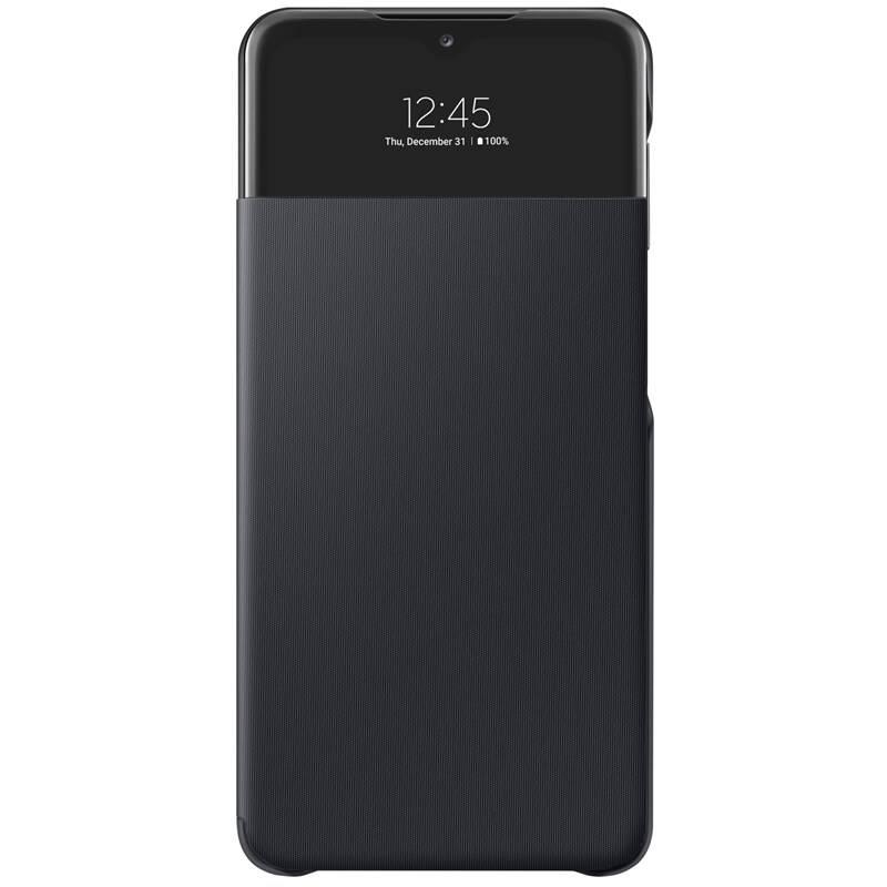 Puzdro na mobil flipové Samsung S View Wallet Cover na Galaxy A32 5G (EF-EA326PBEGEE) čierne + Doprava zadarmo