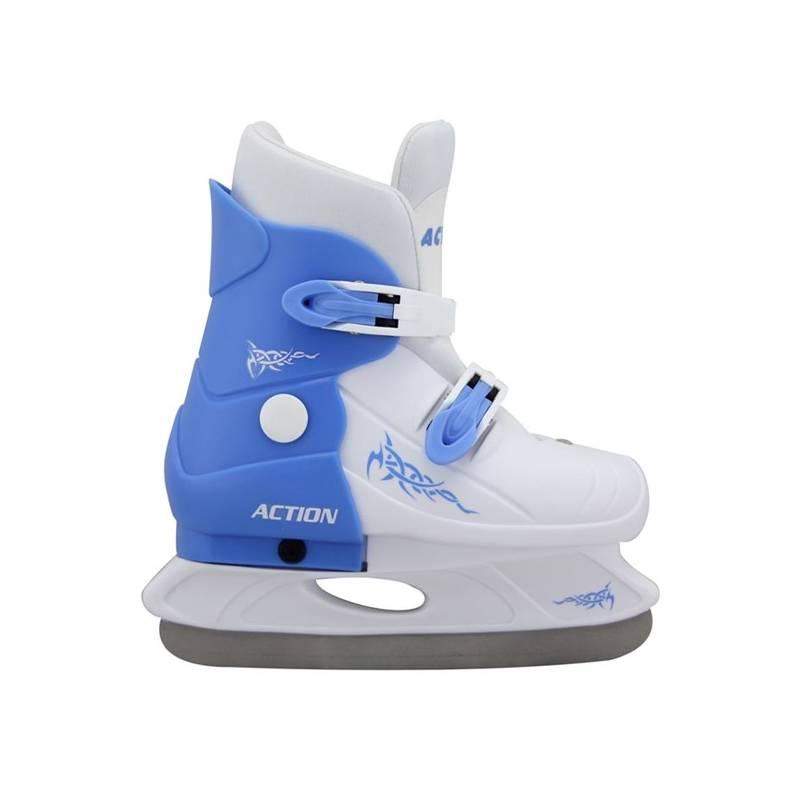 Korčule Acra chlapecké roztahovací plastové, vel. 33 biele/modré