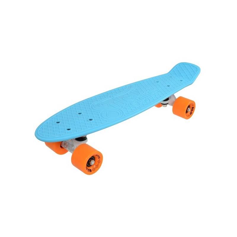 "Penny board Sulov 22"" VIA DOLCE sv.modrý/mat.oranžový + Doprava zadarmo"