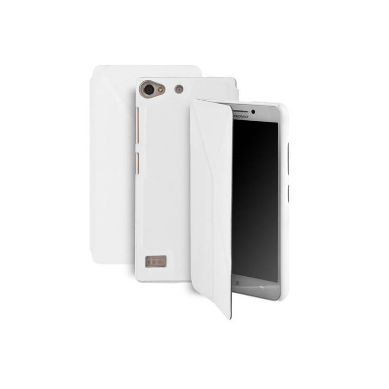 Puzdro na mobil flipové GoGEN pro Lenovo VIBE X2 (GOGCASEVIBEX2W) biele