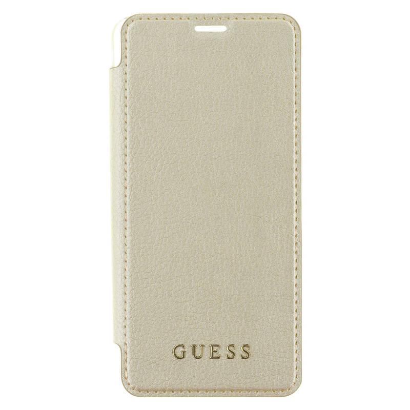 Puzdro na mobil flipové Guess Iridescent Book Case pro Samsung Galaxy S9 (GUFLBKS9IGLTGO) zlaté