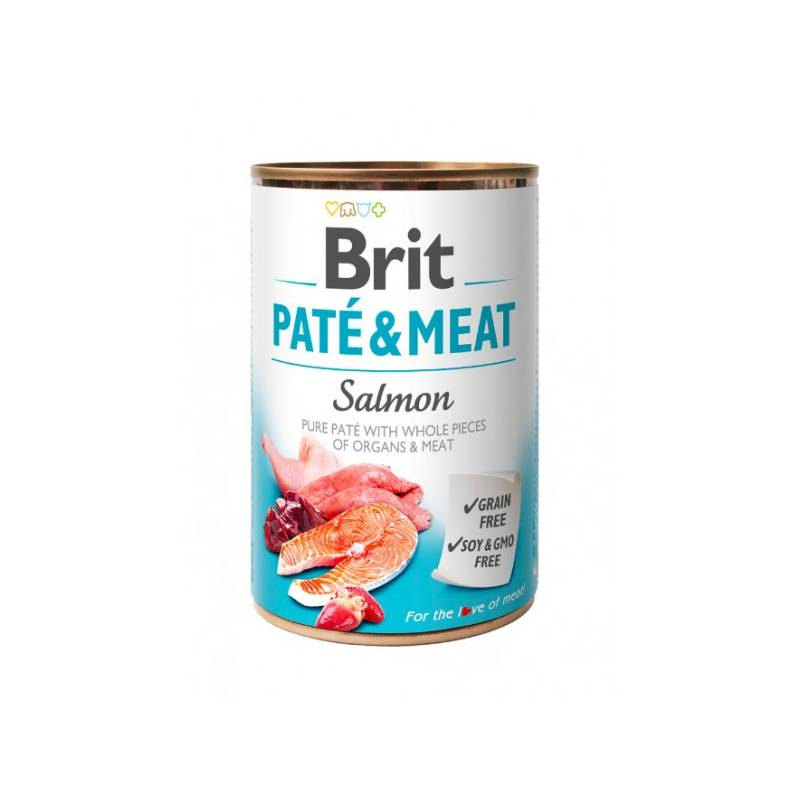 Konzerva Brit Dog Paté & Meat Salmon 400 g