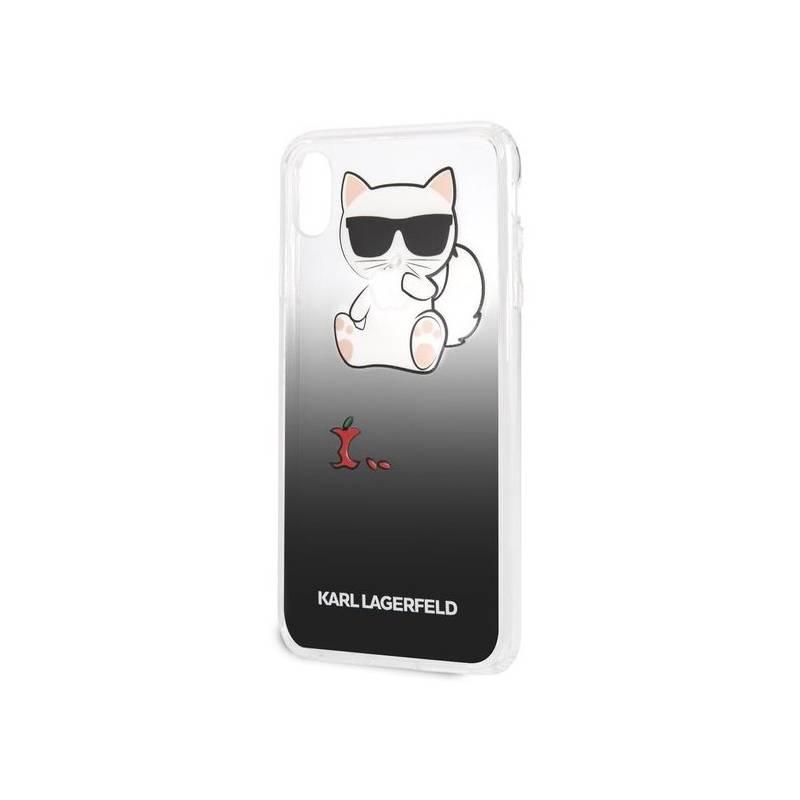 Kryt na mobil Karl Lagerfeld Fun Eaten Apple pro Apple iPhone Xs Max  (KLHCI65CFHE) čierny ee0d8e33fe6