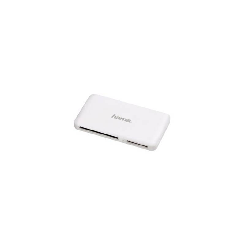 Čítačka pamäťových kariet Hama SuperSpeed Multi Slim All in One, USB 3.0 (114842) biela