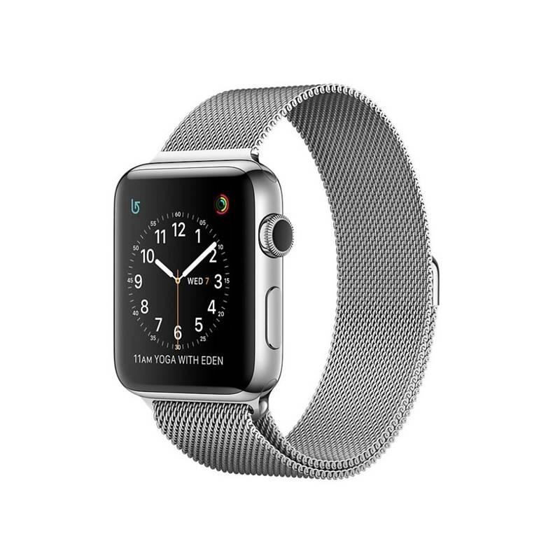 Chytré hodinky Apple Watch Series 2 38mm pouzdro z nerezové oceli + stříbrný Milánský řemínek (MNP62CN/A) + Doprava zadarmo