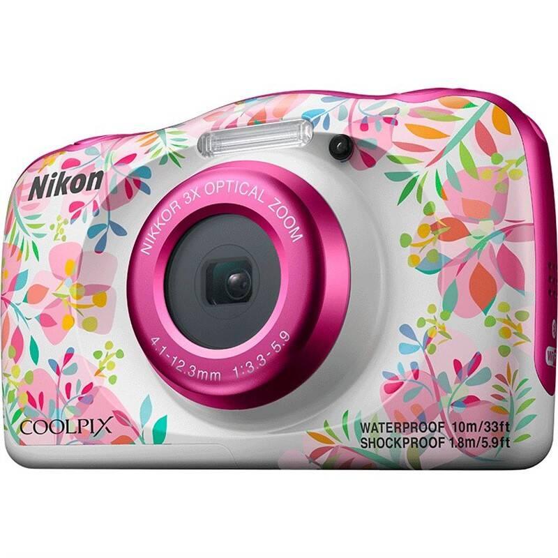 Digitální fotoaparát Nikon Coolpix W150 BACKPACK KIT bílý/růžový