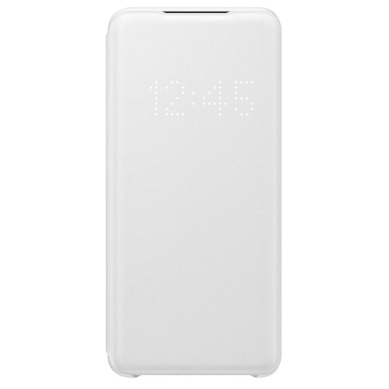Púzdro na mobil flipové Samsung LED View na Galaxy S20 (EF-NG980PWEGEU) biele
