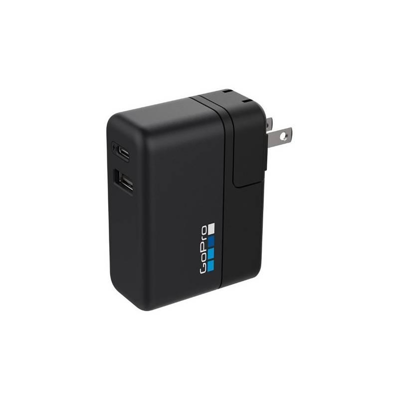 Nabíjačka GoPro Dual Port Supercharger pro HERO 5 Black / HERO 5 / HERO6 / Karma Grip (AWALC-002) čierna
