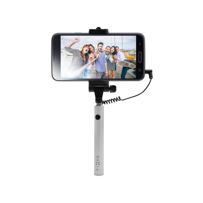 Selfie tyč FIXED Snap Mini - stříbrná (FIXSS-SNM-SL) strieborná