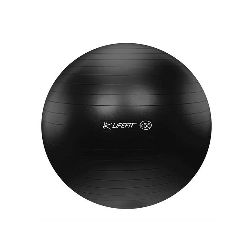 Gymnastická lopta LIFEFIT ANTI-BURST 55 cm čierny