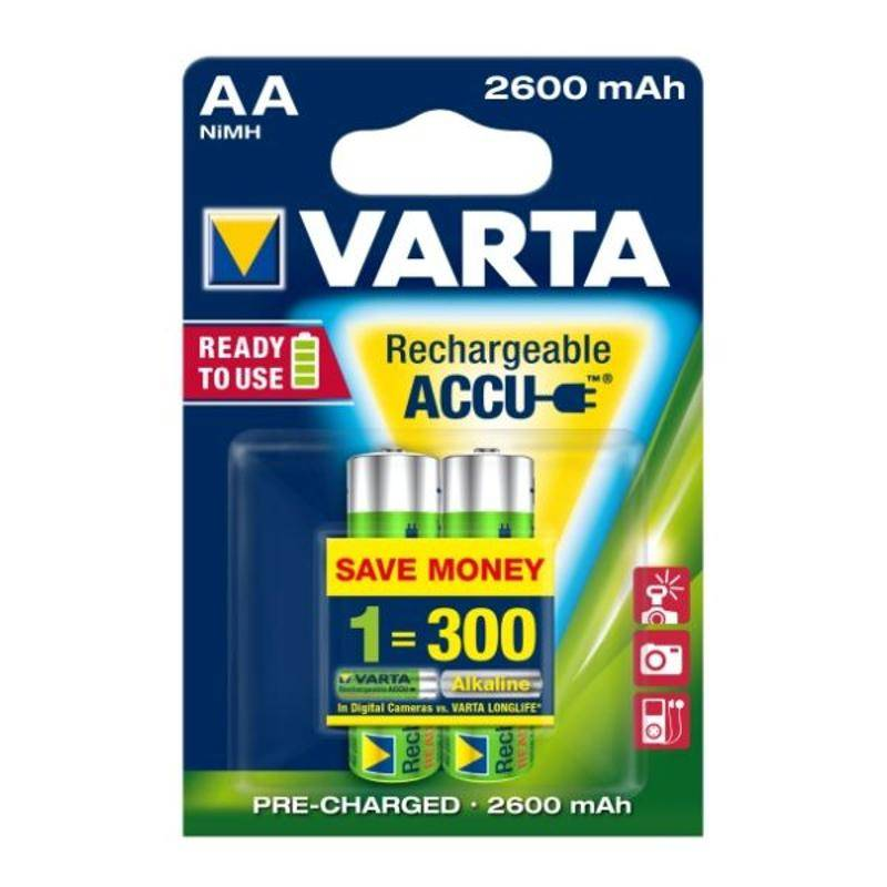 Batéria nabíjacie Varta Rechargeable Accu, AA, 2 600 mAh, 2 ks