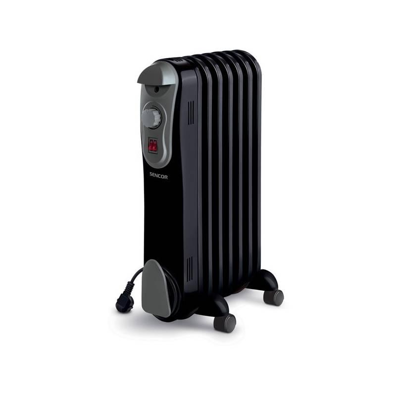 Olejový radiátor Sencor SOH 3107BK čierny/sivý