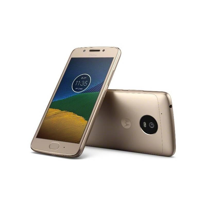 Mobilný telefón Motorola Moto G 5.generace Dual SIM (PA610040CZ) zlatý + Doprava zadarmo