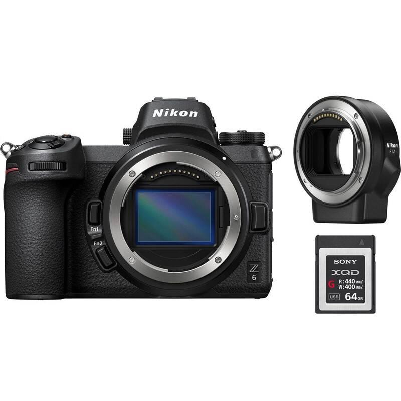 Digitální fotoaparát Nikon Z6 + adaptér bajonetu FTZ + 64 GB XQD karta…    KASA.cz