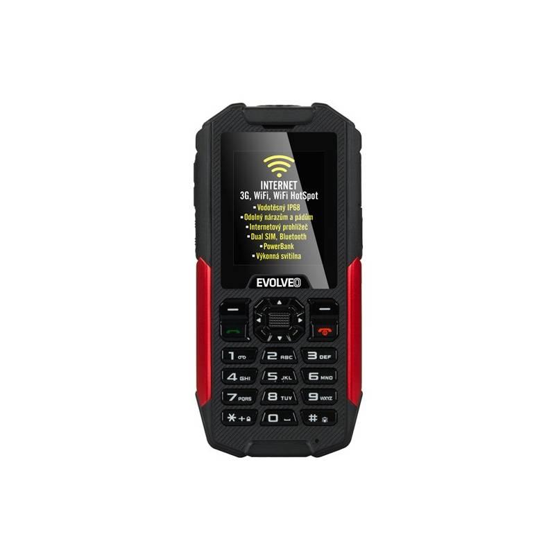 Mobilný telefón Evolveo StrongPhone X3 Dual SIM (SGM SGP-X3-B) čierny/červený