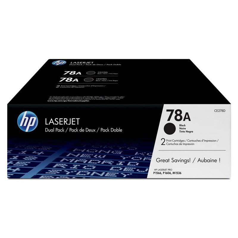 Toner HP 78A, 2100 stran (CE278AD) čierny + Doprava zadarmo