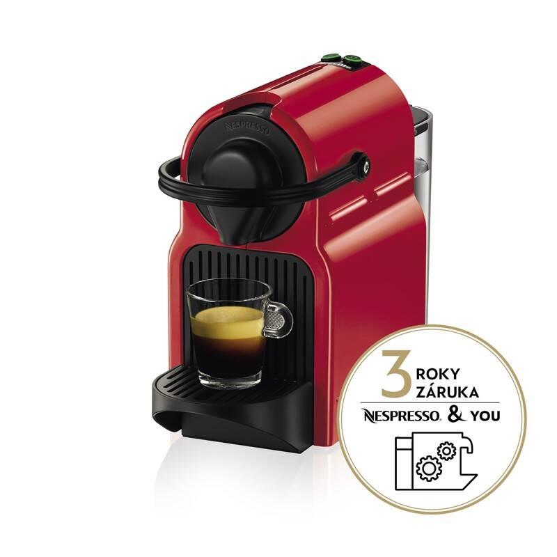 Espresso Krups Nespresso Inissia XN1005 červené