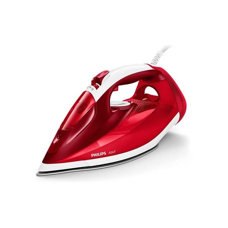 Žehlička Philips Azur Performer Plus GC4554/40 červená