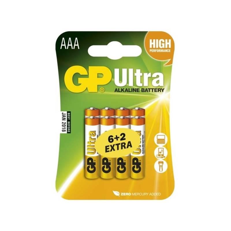 Batéria alkalická GP Ultra AAA 6ks + 2ks